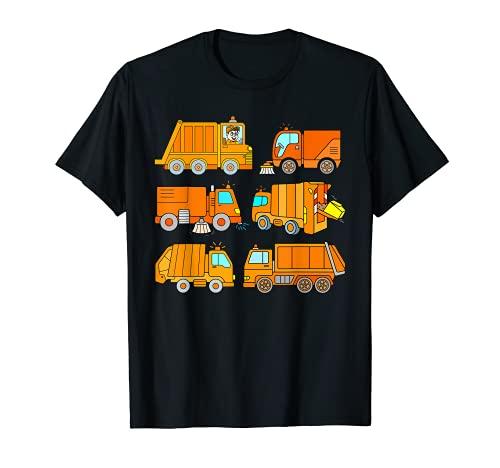 Camión de basura y barredoras para niños camiones de basura y barredoras Camiseta