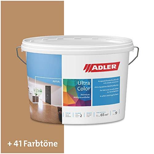 ADLER Ultra-Color Wandfarbe - Volltonfarbe und Abtönfarbe in 100+ Farbtönen - Edelmann C12 087/6 Braun 1 l Atmungsaktiv, Hochdeckend, Lösungsmittelfrei