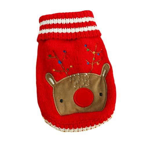 YiiJee Haustier Hund Pullover Kleidung Kleine Hundchen Stern Muster Winter Gestrickte Pullover Als Bild3 XL