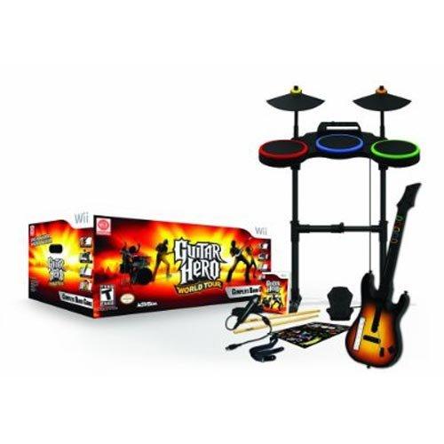 Guitar Hero World Tour (jeu + guitare + batterie + micro)