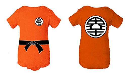 Tee Tee Monster A Baby Dragon Ball Z Goku Inspired Onesie