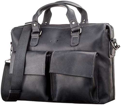 Shvigel BIG Laptop Leather Bag - Travel Bag - Men's Leather Briefcase - Computer Messenger Bag - for Men and Women - Best Business Satchel School Bag