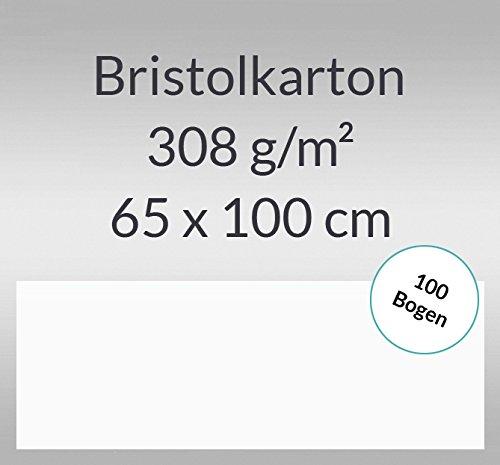 Bristolkarton 308 g/qm 65 x 100 cm - 100 Bogen