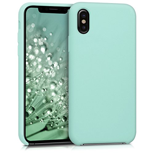 kwmobile Cover Compatibile con Apple iPhone X - Custodia in Silicone TPU - Back Case Protezione Cellulare Menta