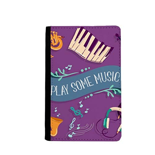 beatChong Elektro-Klavier-Musik-Headset Musik-Pass-Halter Travel Wallet Abdeckungs-Fall Karten-Geldbeutel