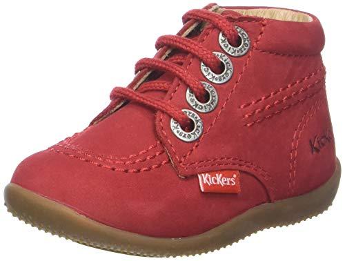 Kickers Unisex Baby Billy Hausschuhe, Rot (Rouge 4), 24 EU