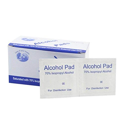 healifty 100unidades desechables de alcohol Pads Key2Life-alcohol Limpieza Desinfectante pastillas Limpia Heridas Esterilización. Para Casa o al aire libre