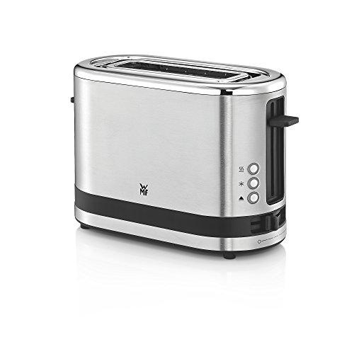 WMF Kitchenminis Coup Tostadora con 1 ranura, formato contacto, 600 W, 7 niveles de tostado, acero inoxidable cromargan mate