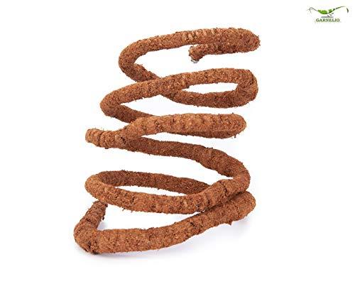 Natureholic Flexible Liane 200 cm mit Kokosfasern - Ideale Klettermöglichkeit für Reptilien