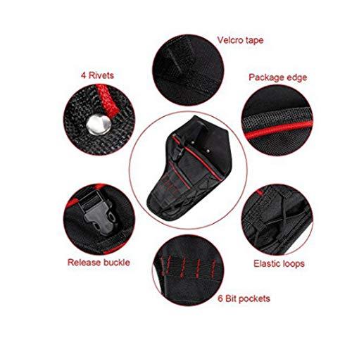 Bolsa de herramientas multifunción impermeable, portaherramientas, bolsa de herramientas eléctrica, para llaves de martillo