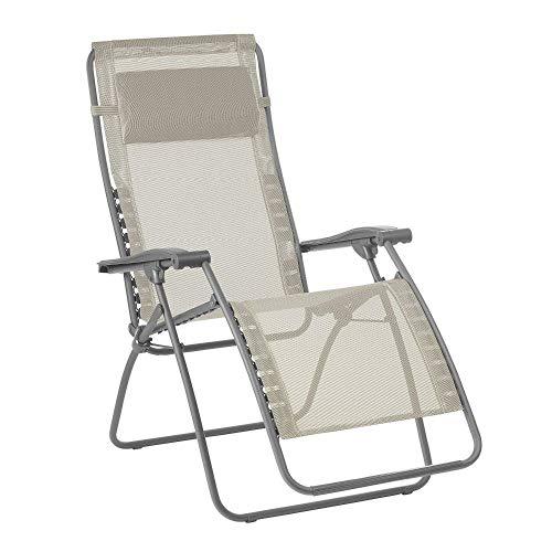 Lafuma Relax-Liegestuhl, Klappbar und verstellbar, RSXA Clip, Batyline, Farbe: Seigle, LFM2035-8548