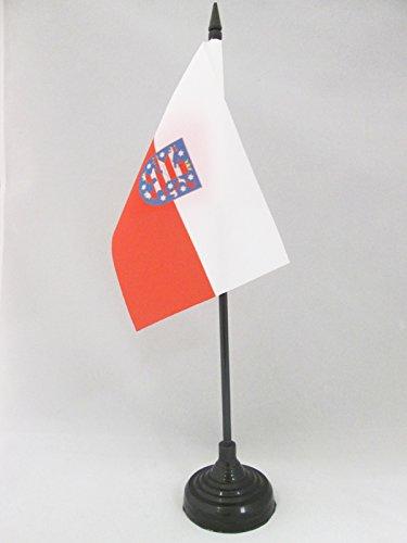 AZ FLAG TISCHFLAGGE THÜRINGEN 15x10cm - THÜRINGEN TISCHFAHNE 10 x 15 cm - flaggen
