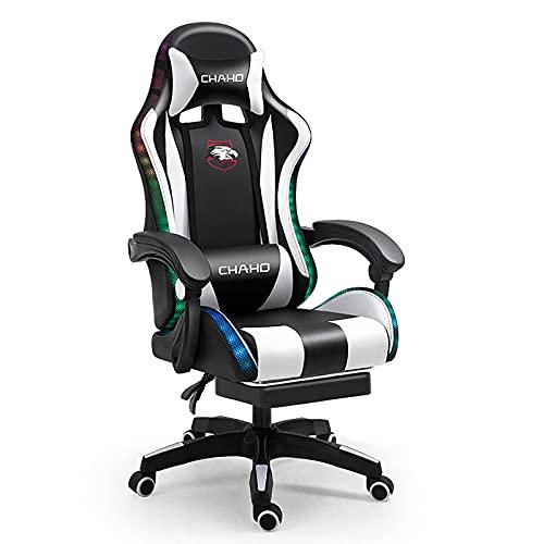 Silla de juegos, silla de oficina de malla de respaldo alto, silla giratoria ergonómica, juegos para el hogar, carreras, sillas de escritorio de computadora para adultos y adolescentes