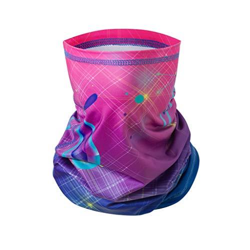 MOTOCO Multifunktionstuch Herren Schnelltrocknend Atmungsaktiv Kopftuch Damen Super Elastisch Sonnenschutz Halstuch für Motorrad Laufen Wandern(25X50CM.Pink-1)