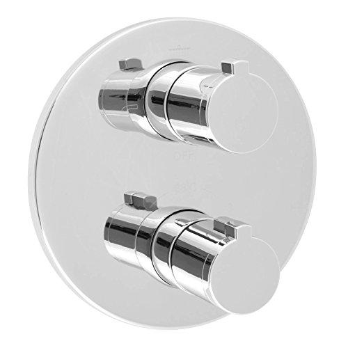 Welfenstein 3-Wege Thermostat Armatur T-009 rund Unterputz 3-fach Umsteller