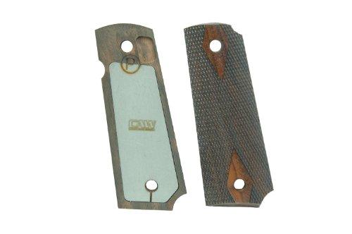 クラフトアップルワークス M1911 ガバメント専用 グリップウエイト付属 ダイヤチェッカー 木製グリップ