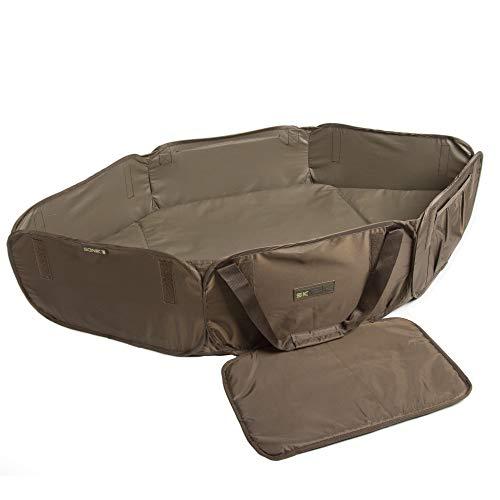Sonik opvouwbare hakmat SK-TEK Compacta Cradle - afhakmat voor karperhengelaars in groen met geringe verpakkingsmaat - gevoerde mat met zijdelingse draaggrepen