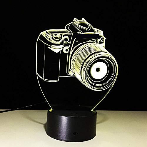 DKIPN 3D Illusion Lampe Led Nachtlicht, 16 Farben Ändern Berührungsschalter Usb Tischlampe Mit Fernbedienung, Kinder Geburtstag Weihnachtsgeschenke Schlafzimmer Dekoration (Modellierung Von Digitalkam