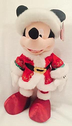 Disney authentique - Noël Mickey Mouse poupée en peluche douce en très détaillée costume de Père Noël