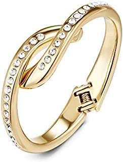58bdd2d37 Mestige Golden Annabelle Hinge Bracelet with Swarovski® Crystals (Gold),  Gifts Women Girls