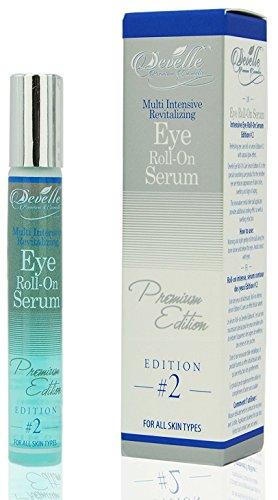 Develle Eye Roll On Blue Augenserum 10 ml. Premium Edition gegen Tränensäcke und Augenringe/Augenlifting/Anti Falten Augenserum/Anti-Aging Serum
