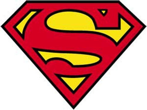 SUPERMAN Logo STICKER ADESIVO, Officially Licensed DC Comic Superhero Originals Artwork, 4' x 5.5' - Long Lasting Sticker DECAL