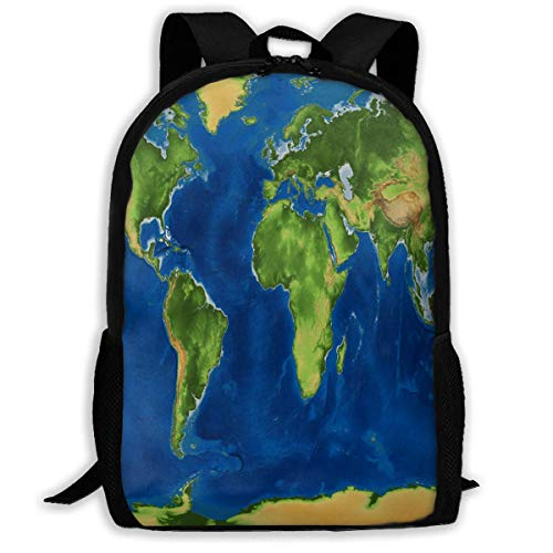 Rugzak EARTH WORLD MAP Rits School Bookbag Dagtas Reizen Rugzak Gym Tas Voor Man Vrouwen