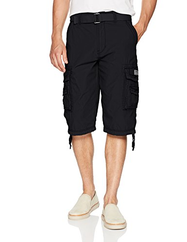 Unionbay Men's Cordova Belted Cargo Short Messenger - 36 - Black