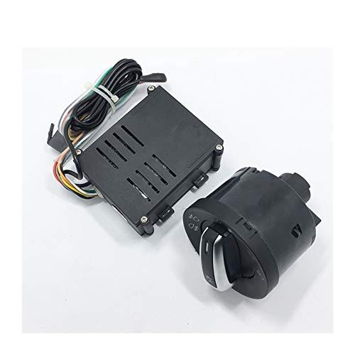 ZHANGXIN XINGSTOR 5pcs Luces de automóviles Interruptor + Cromo Auto Sensor Light Fit para Passat B5 Bora Polo Golf 4 Nuevo Jetta Beetle 5nd 941 431 B