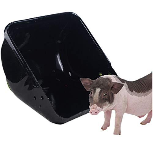 LUCKFY Comedero para cerdas - Comedero para Cerdos - Dispensador de Alimentos de Gran Capacidad Comedero para Almacenamiento Cubo para comederos para Ganado y Mascotas