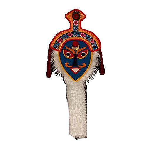 Rojo Tibetano Tradicional Hecho A Mano Tibetano Decoracin De La Pared Del Hogar Flor De Gesang Campana Cara Azul Mscara De pera Tibetana Colgante Color Pequeo