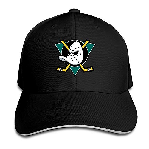 II Mighty Ducks Primary Logo Adjustable Peaked Baseball Caps...
