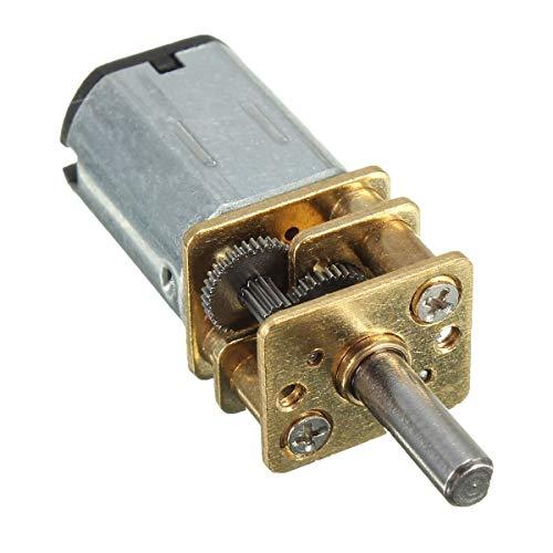 Zimaes Ausgezeichnet DC 6V 100 RPM Mini-Metallgetriebemotor mit Zahnrad 3mm Wellendurchmesser Modell: N20 Glatt