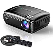 Video Projectors, SOLOVE HDMI Projector Full HD 1080P Home Theater Projector for Movie and PowerPoint Presentation for Laptop PC TV iPhone Android (Black-LN) (Black VP)