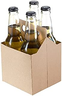 4 Pack Cardboard Beer Bottle Carrier For 12 Ounce Bottles Kraft (10 Count))