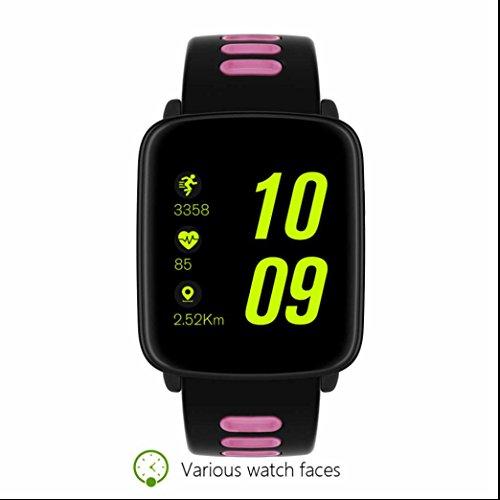 Fitness Orologio Smart Watch,Braccialetto Fitness Cardiofrequenzimetri sano contapassi Monitorare il Sonno Notifiche Chiamate & SMS Activity Tracker Fashion LCD Display per iPhone Android