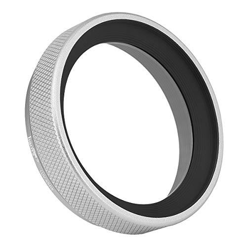 Haoge LUV-X54W Metall Gegenlichtblende Sonnenblende mit MC UV Filter Ultraviolett Schutzfilter für Fujifilm Fuji FinePix X100V Kamera Objektiv Silber