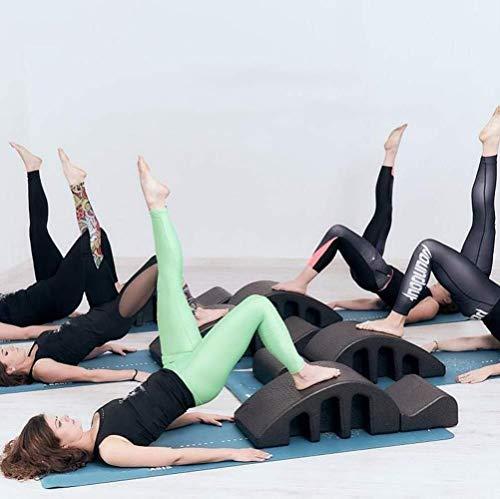 n Pilates Wirbelsäulenkorrektor Pilates Spine Yoga-Massage-Bett Pilates Spine Corrector, Schaum Keil Spine Corrector Barrel Back Pain Relief Gym Massagebett