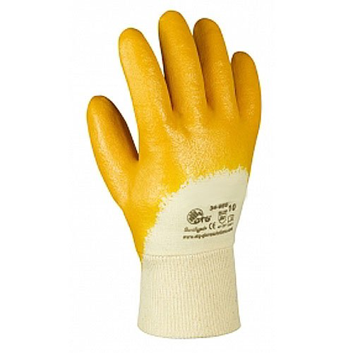 12 Paar, Nitril Handschuhe, Nitril-gelb, Gr. 7 (S), Cat.2 EN420 EN388