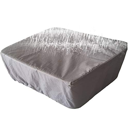 LCA Garden Furniture Covers Cube Rectangle Rattan Furniture Cover Waterproof Dustproof Cloth Table And Chair Cover (Color : Gray, Size : 213x132x74cm)