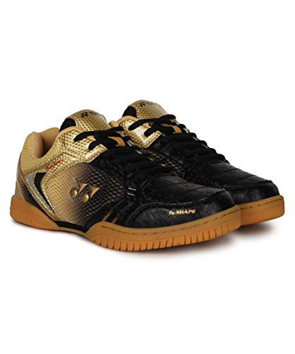 Yonex LEGEND KING 68 Badminton Shoes ( Black/Gold, 10 UK )