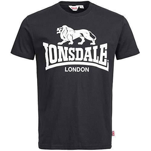 Lonsdale London Herren CAOL Men Regular Fit T-Shirt, Black, XL