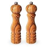 Peugeot Paris Olive Wood Pepper and Salt Mill Set, 8.75-Inches