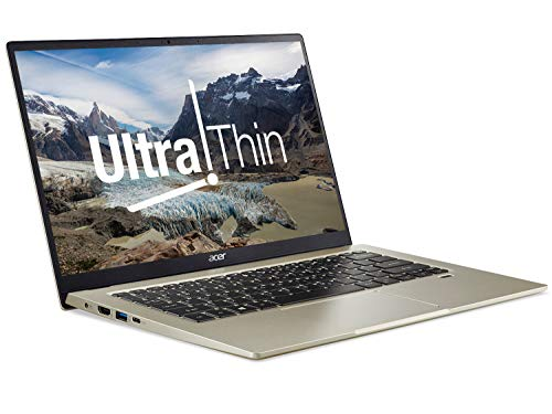 Acer Swift 1 SF114-33 14 inch Laptop - (Intel Pentium N6000, 4GB RAM, 128GB SSD, Full HD Display, Windows 10 in S Mode, Safari Gold)