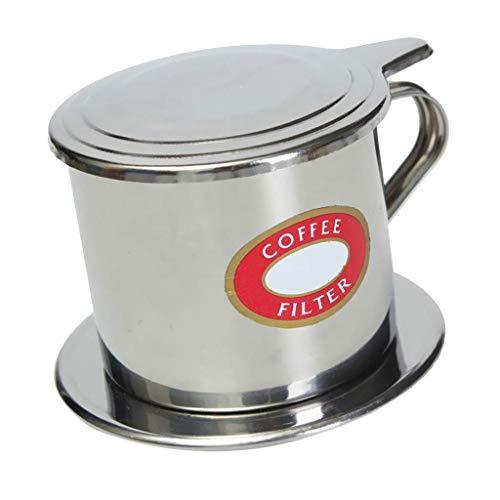 Prensa de filtro de café, filtro de café reutilizable de acero inoxidable, filtro de taza de goteo, cafetera de una sola taza, 2 capacidades disponibles, plata, 50 ml de excelente calidad y duradero