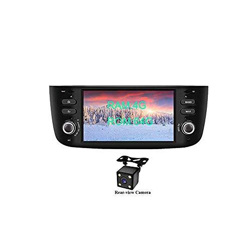 XISEDO Android 8.0 in-Dash 1 Din 6.2 Pouces Autoradio Voiture Radio à Écran Tactile 8-Core RAM 4G ROM 32G Car Radio Système de Navigation GPS pour Fiat Linea/Fiat Grande Punto(avec Caméra de Recul)