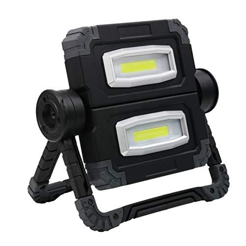 kdjsic 10W 850lm USB recargable inalámbrico al aire libre llevado punto de inundación trabajo luz camping lámpara