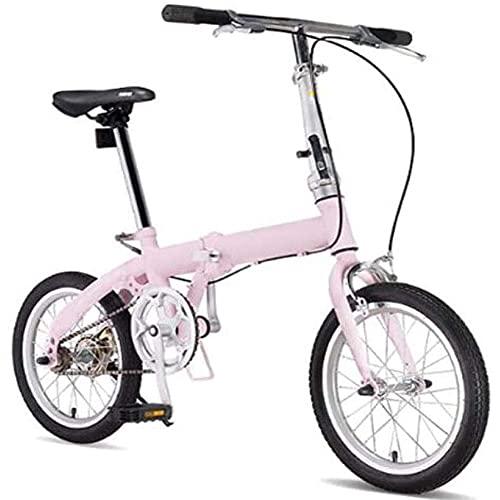 Bicicleta Plegable para Adultos, Bicicleta De Ciudad Liviana con Ruedas De 15 Pulgadas, Marco De Aluminio con Asiento De Manillar Ajustable, Frenos Tipo V, Conducción Al Aire Libre De Una Velocidad