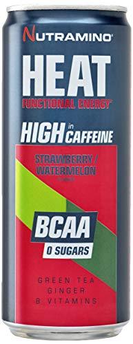 Nutramino Heat BCAA Supplement, Strawberry Watermelon, Pack of 24, 330 ml/7.920 Kg