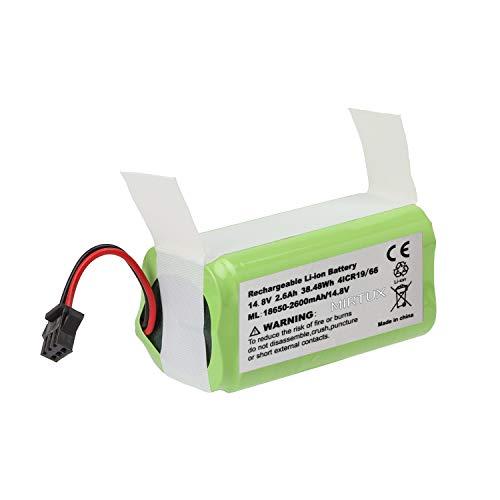 MIRTUX Batería de reemplazo para Conga 990 Excellence, 14,8V 2600mah Li-Ion. Repuesto de Litio Recargable Compatible con Conga excelence 990
